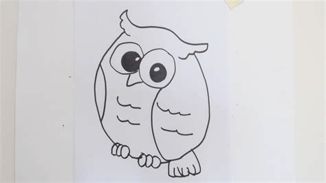 how to draw doodle owl simple owl drawing