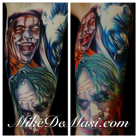 tattoo junkies the joker color tattoos by mike demasi tattoonow