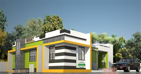 Low Cost Contemporary Style House In Kerala Kerala House Low Cost Modern House Plans In Kerala