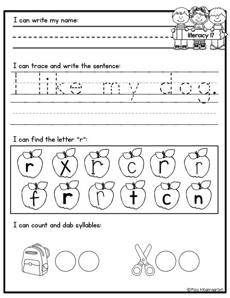 Work For Kindergarten Worksheets kindergarten morning work miss kindergarten