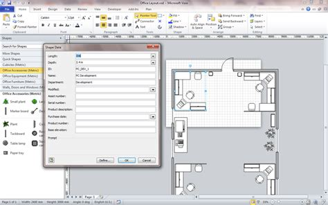office layout names reading and writing visio shape information with c