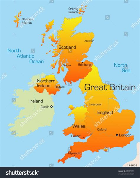 Great Britain Address Lookup Abstract Vector Color Map Of Great Britain Country 17365093