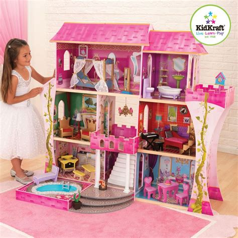 dolls house kidkraft mias christmas mia s frozen castle pinterest
