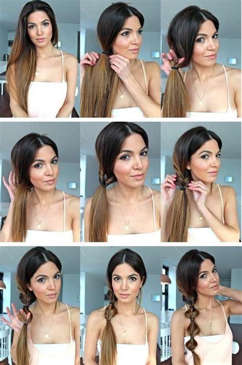 girl hairstyles tutorial twist ponytail hairstyle tutorial side ponytail hair