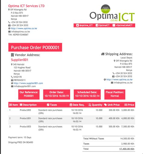Purchase Psyc Report Templates Professional Report Templates Odoo Apps