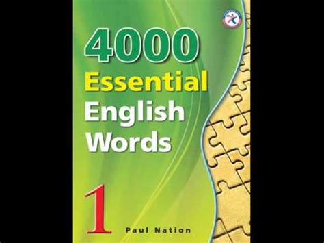 4000 Essential English Words 1 Ebook Audio Youtube