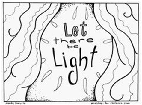 let there be light coloring page homeschool preschool