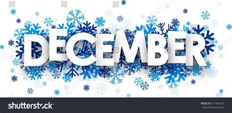 For December december sign with snowflakes vector illustration