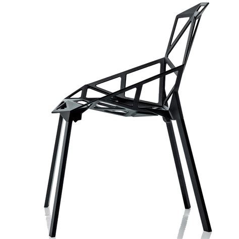 chair one magis chair one stuhl schwarz eloxiert 4 beine konstantin