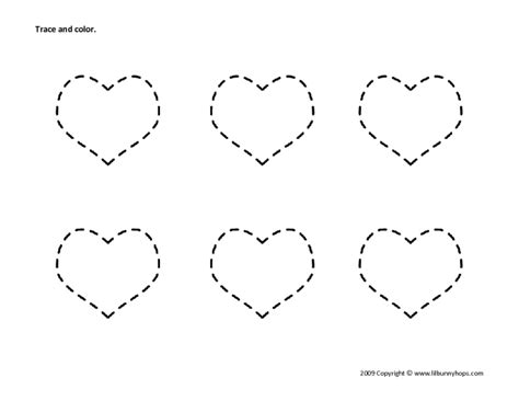 all worksheets 187 tracing hearts worksheets printable