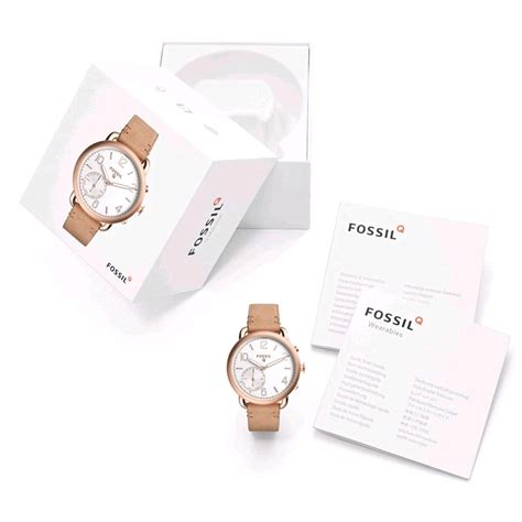 Fossil Rantai Rosegold Cover Black fossil q tailor hybrid smartwatch 40mm gold