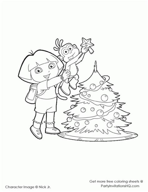 simple dora coloring pages easy dora christmas coloring pages laptopezine az