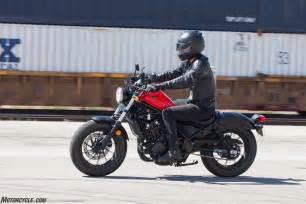 Honda Rebel 2017 Honda Rebel 500 Review Ride