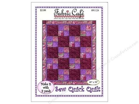 quilt pattern with three fabrics fabric cafe sew quick 3 yard quilt pattern superior 3