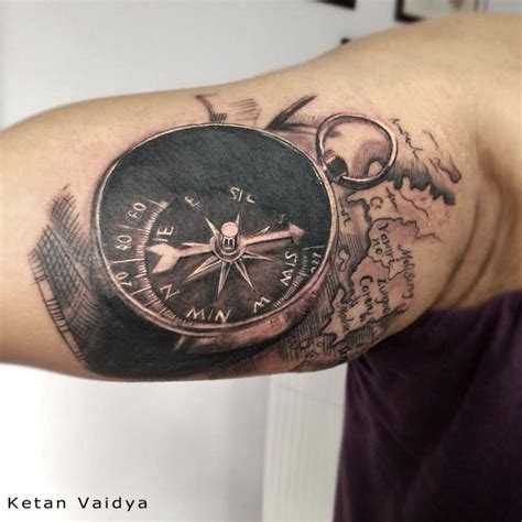 tattoo compass 3d best tattoo artist in mumbai best tattoo artist in