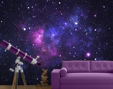 fleece wall mural galaxy wallpaper wall wall decor
