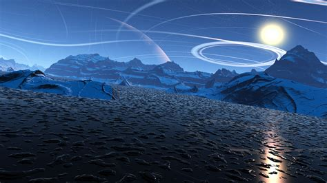 Pnet1gb sci fi mountain moon 4k 3840 215 2160 wallpaper simply