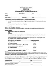 vaccination consent form template 8 vaccine consent forms free sle exle format