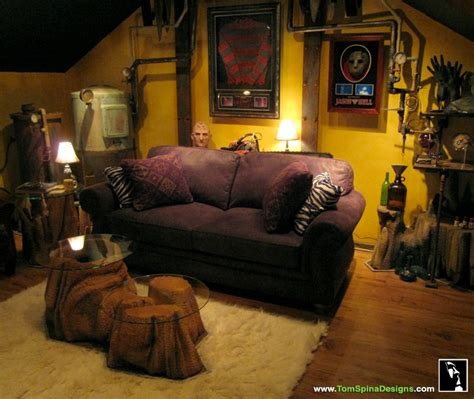 custom cave horror themed home theater prop