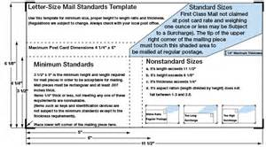 Letter Size Mail Dimensional Standards Template by Standard Postcard Size Template Bestsellerbookdb