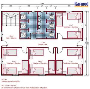 prefabricated floor plans karmod 206 m 178 modular dormitory accommodation building