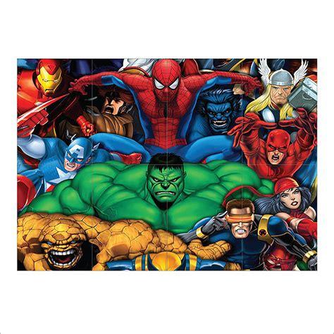 printable heroes giants marvel heroes block giant wall art poster