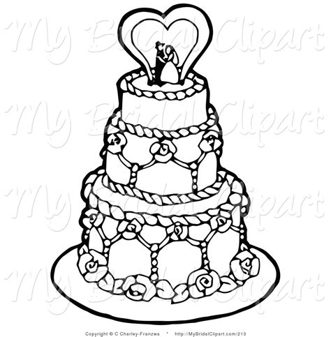 coloring page wedding cake wedding clipart coloring book pencil and in color