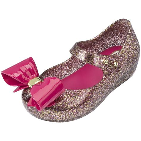 mini shoes mini ultragirl bow shoes in glitter pink
