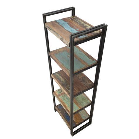 scaffale industriale libreria scaffale in legno 5 ripiani e ferro stile