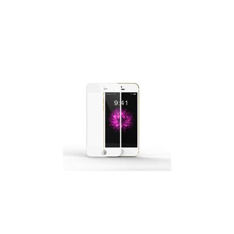 vitre en verre tremp 233 contour blanc iphone 6 6s