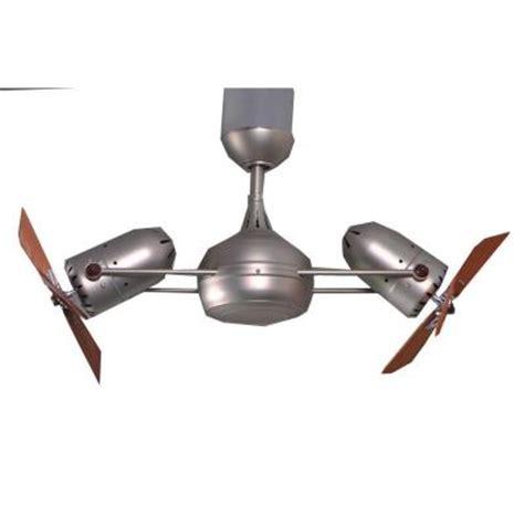 double headed ceiling fan gale series 39 in brushed nickel indoor double headed