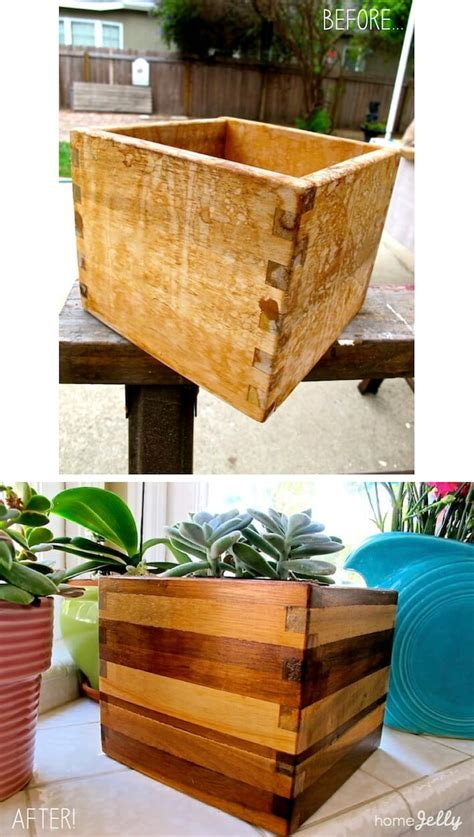 ikea wooden planter box  simple mod makeover homejelly