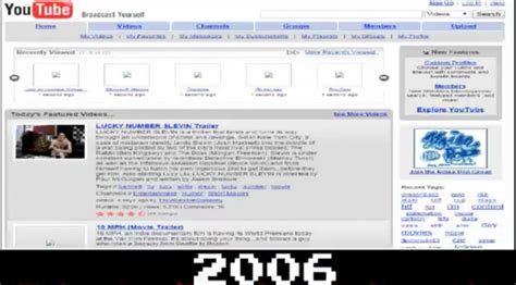 youtube layout evolution the evolution of youtube 2006