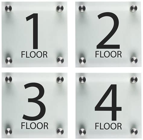 level floor stairwell floor level signs 6 quot x 6 quot acrylic panels