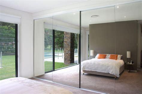 Wardrobe Mirrored Doors by Semi Frameless Mirror Doors Bedroom Wardrobe Concealed
