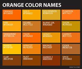 orange color names list of colors with color names graf1x