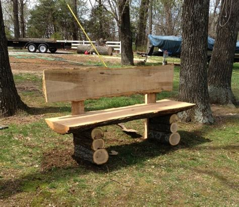 log benches outdoor log bench if youu0027ve had a log cabin built for you recently you probably have a
