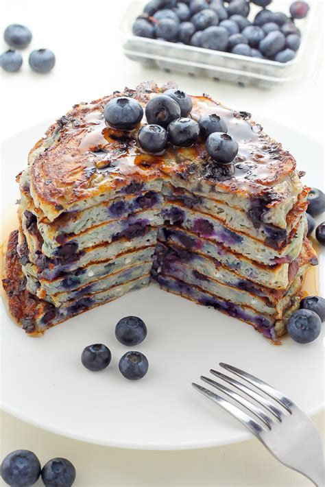 blueberry cottage cheese pancakes baker by nature
