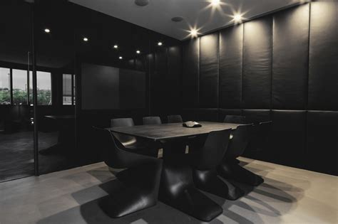 Black Glass Boardroom Table Dpn Sydney Leather Boardroom Table Leather Clad Cupboards Tv Built Into Black Glass Wall