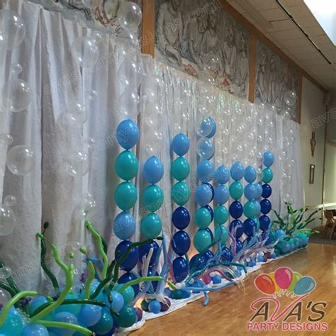 quicklinks balloon backdrop great for beach or under the sea party partywithballoons