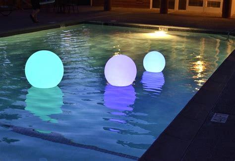 diy floating pool lights floating pool light rainbow orb birando