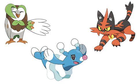 imagenes de pokemon sol y luna iniciales pok 233 mon sol y luna presentadas evoluciones de los pok 233 mon