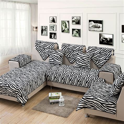 animal print couch covers super soft warm for winter selectional couch covers pouch