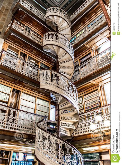 Old Victorian House Plans spiral staircase at the law library in the iowa state