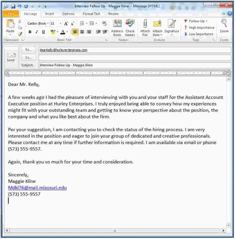 Sending Resume By Email Cover Letter Samples 4 follow up thank you email after interview ganttchart
