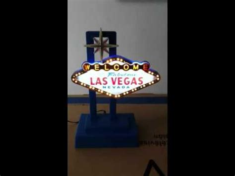 ersand light up sign mini welcome to las vegas light up sign youtube