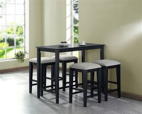 Kitchen Table Black Monarch Specialties Grain Counter Height Kitchen Table 24 Inch By 48 Inch Black