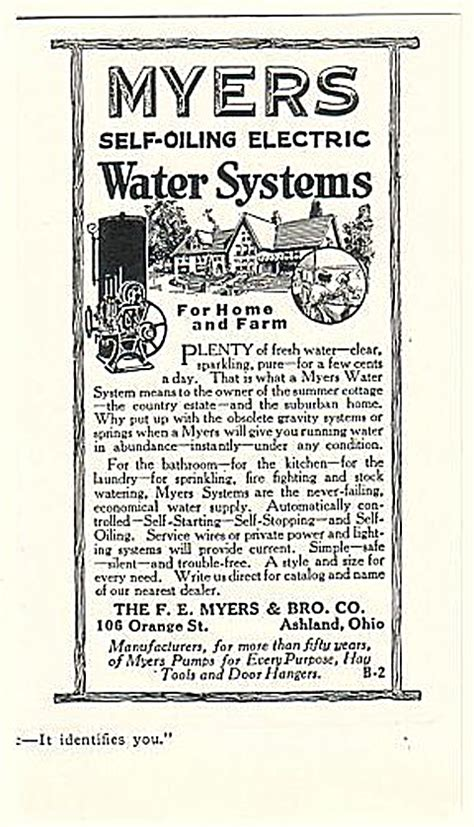 plumbing supply co vintage myers self oiling water
