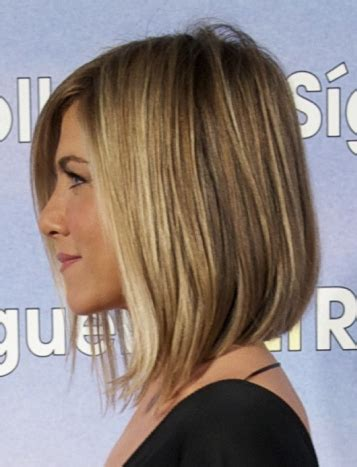 short in back and a little longer in front pixie shoulder length bob with no layers longer in front shorter