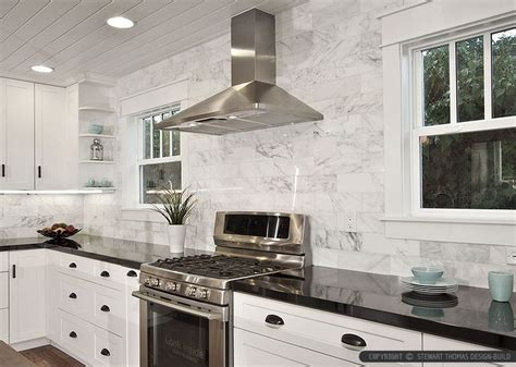 marble subway tile backsplash love home ideas pinterest black countertop white marble subway backsplash tile from